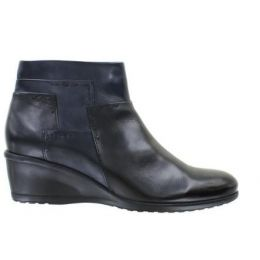 Regarde Le Ciel Black/Navy/Piombo Glove Leather Women's Daisy-07 Ankle Wedge Boot DAISY