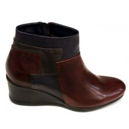 Regarde Le Ciel Sangria Multi Women's Daisy-07 Ankle Wedge Boot DAISY