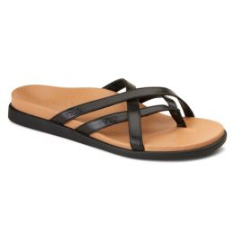 Vionic Black Daisy Toe Post Womens Comfort Sandals