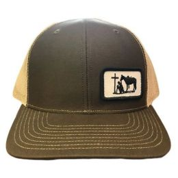 Dally Up Brown and Tan Praying Cowboy Snapback Cap DALLY184