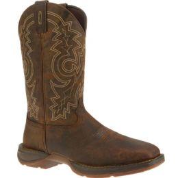 DB4343 Brown Steel Toe Pull On Western Durango Mens Work Boots