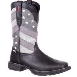 Rebel By Durango Black Charcoal Grey Faded Black Flag Men's Western Boot DDB0125
