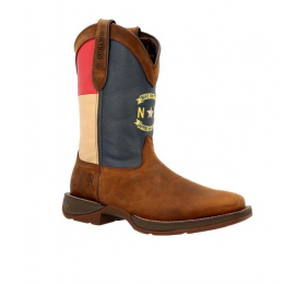 Durango Western Brown Rebel North Carolina State Flag Men's Western Boots DDB0348