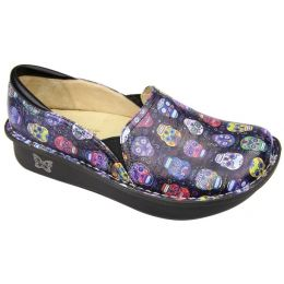 DEB-484 DEBRA Sugar Skulls Professional Nursing Clog Ladies Shoes