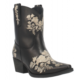 Dingo Black Ladies Take a Bow Embroidered Boot DI354-BLK