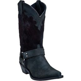 Dingo Clipper Hair Black Western Ladies Boots DI7530