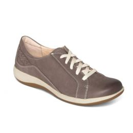 Aetrex Warm Grey Dana Lace Up Oxford Womens Shoes DM306