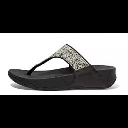 Fitflop Black Glitter Splash Lulu Ladies Sandals DM5-001
