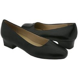 T3235-001 DORIS Black Leather Comfort Pump Trotters Womens Shoes