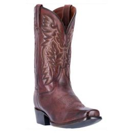 Dan Post Chocolate Brown Mens Centennial Square Toe Western Boots DP2154
