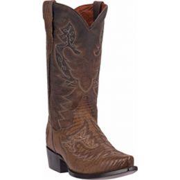 DP2361 ASHEVILLE Apache Stitched Lizard Womens Western Cowboy Boots
