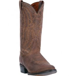 DP2408 Sand Leather Rubber Outsole Dan Post Mens Western Cowboy Boots