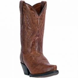 DP2422 Cognac Leather Snip Toe Dan Post Womens Western Cowboy Boots