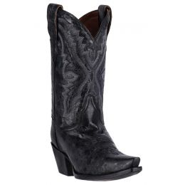 DP2423 Black Leather Snip Toe Dan Post Womens Western Cowboy Boots