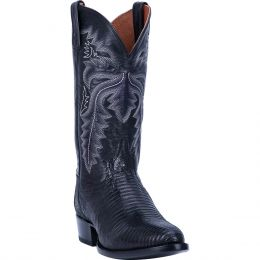 Dan Post Black Winston Lizard Mens Western R Toe Boots DP3050