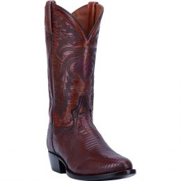 Dan Post Tan Winston Lizard Mens R Toe Western Boots DP3051R