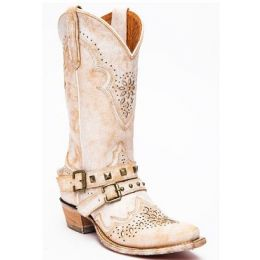 Dan Post White Women's Restless Western Snip Toe Boots DP4063