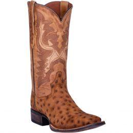 Dan Post Stark Quilled Ostrich Mens Western Boots DP4521