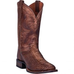 Dan Post Brown KA Mens Square Toe Snake Western Boots DP4526