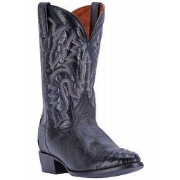 Dan Post Pugh Black Smooth Ostrich Foot Mens Western Exotic Boots DPP5203