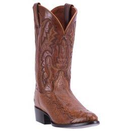 DPP5213 Cognac Pieced Ostrich Dan Post Mens Western Cowboy Boots