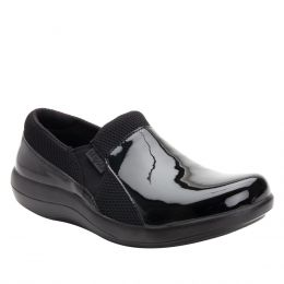Alegria Black Patent Duette Womens Comfort Slip On Shoes DUE-101