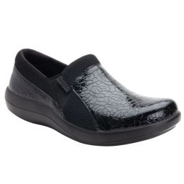 Alegria Black Duette Flourish Slip On Womens Comfort Shoes DUE-955