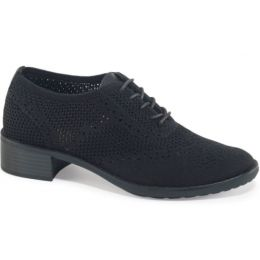 Aetrex Black Hayden Knit Lace Up Womens Oxford Shoes EB400