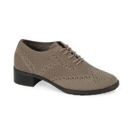 Aetrex Tan Hayden Knit Lace Up Womens Comfort Shoes EB402
