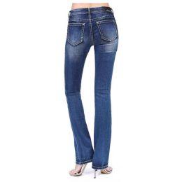 Grace In LA Light Wash Easy Bootcut Womens Jeans EB-51532