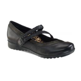 Aetrex Black Ada Braided Womens Mary Jane Shoes EF450