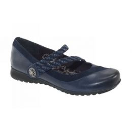 Aetrex Navy Ada Braided Womens Mary Jane Shoes EF455