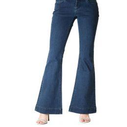 Grace in LA Women's Dark Blue Wash Flare Jeans EL9285