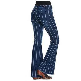 Grace in LA Medium Dark Blue Wash EasyFit Flare Stripe Jeans EL9370-33