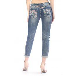 Grace In LA Denim Tyra Easy Fit Womens Skinny Jeans EN-61092