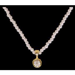 EN1900 Silver Strike Pearl Kids Jewelry Set
