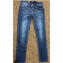 Grace In LA Womens Medium Wash Easy Fit Jeans EN9357KT