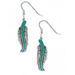 ER1320 The Storyteller Feather Dangle Earrings