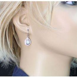 River Lights On Ice Montana Silversmith Teardrop Earrings ER2536