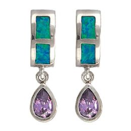 Montana Silversmiths River Lights Purple Tears Earrings ER2538