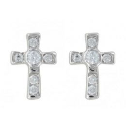 ER3051 A Mark Of Faith Cross Earrings