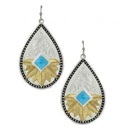 Montana Silversmith Feathered Desert Flower Turquoise Earrings ER3445YG