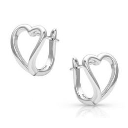 Montana Silversmiths Women's Framed In Love Open Heart Earrings ER4465