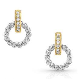 Montana Silversmith Two Tone Ring Earrings ER4633