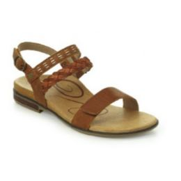 Aetrex Cognac Celeste Adjustable Strap Womens Sandals ES112