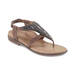 Aetrex Orthotic Stone Sheila Womens Adjustable Strap Comfort Sandals ES506