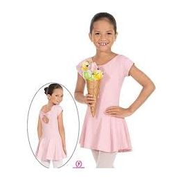 44285 Children Eurotard Angelica Bow Back Leotard With Skirt