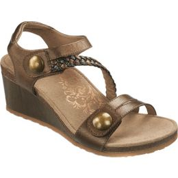 EW454 Bronze NAYA BRAID Wedge Aetrex Women's Sandals