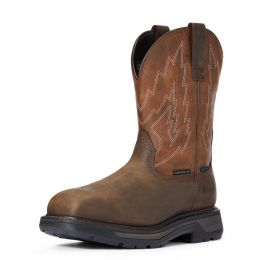 Ariat Dark Brown Big Rig Waterproof Composite Toe Mens Work Boots 10033993