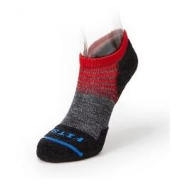 Fits Charcoal/Red Unisex Light Runner (Tri-Stripe Low Sock F3107